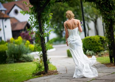 bride-walking-barns-hotel-bedford
