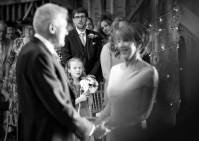 flowergirl-watches-ceremony