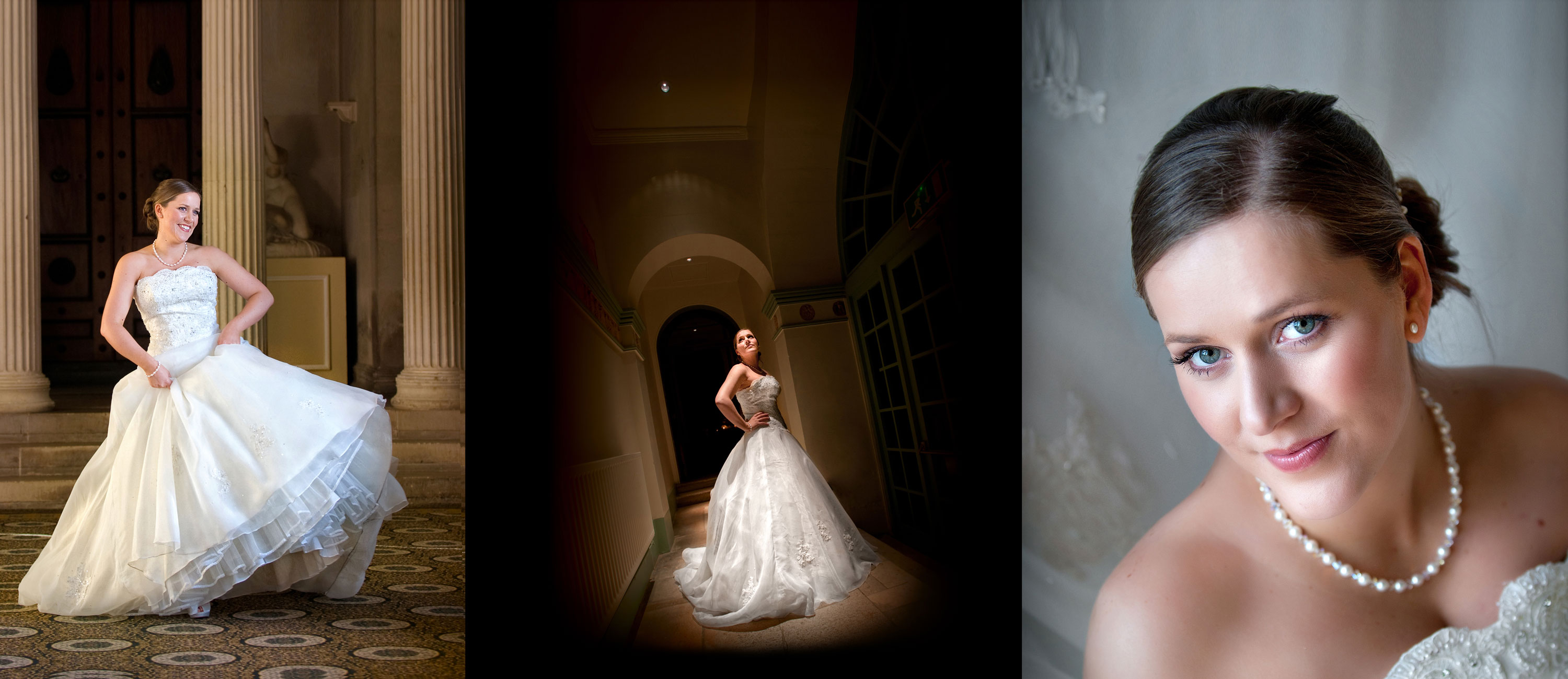 sculpture gallery wedding photographer